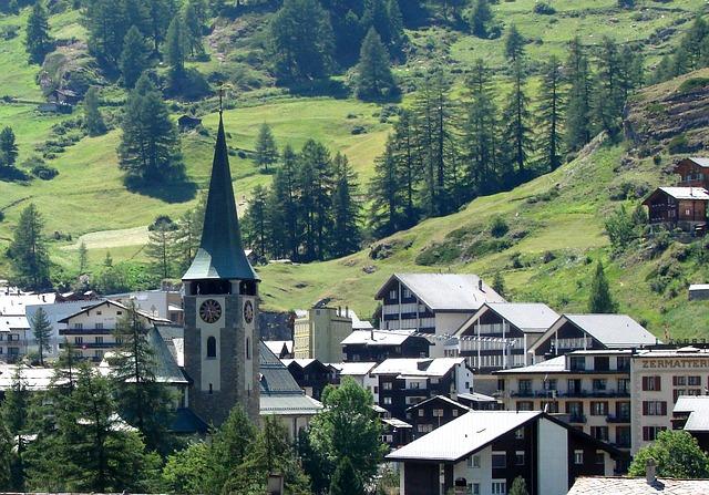 alpy wioska alpejska