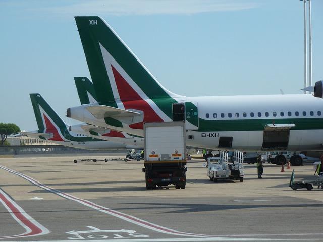 linia lotnicza porty